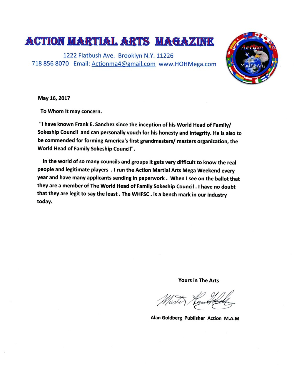 Action Martial Arts Referral